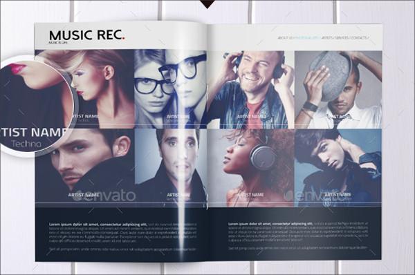 Tri Fold Brochure for Music Agency Presentation