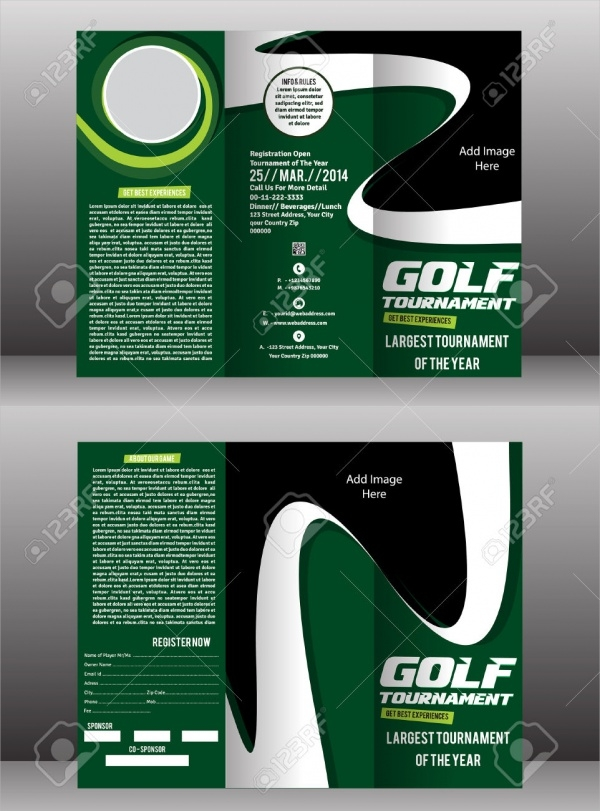 golf tournament brochure template - 25 golf tournament brochures psd vector eps jpg