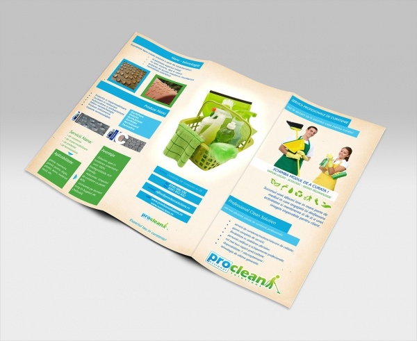 Tri Folded A4 Cleaning Services Brochure
