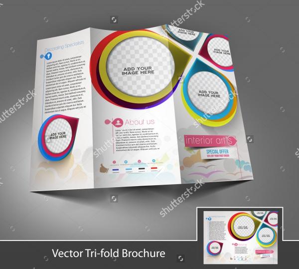 Tri-fold Interior Designers Front brochure