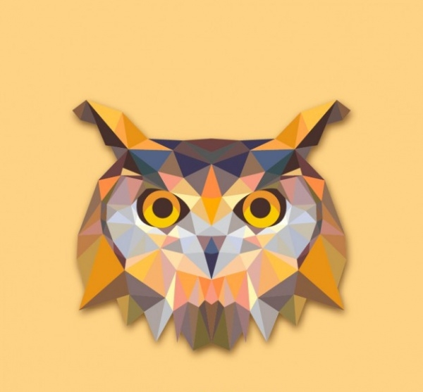 Triangle owl Vector design
