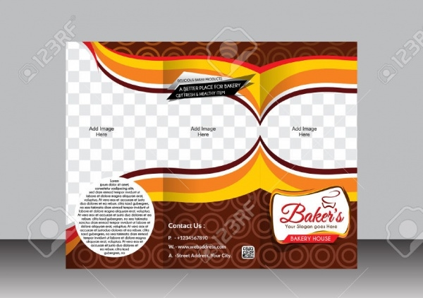 Trifold Bakery Brochure Template Design
