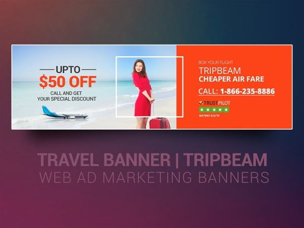 Tripbeam Travel Banner Design