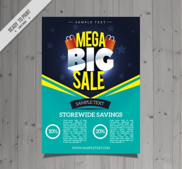 Turquoise Sale Flyer Design