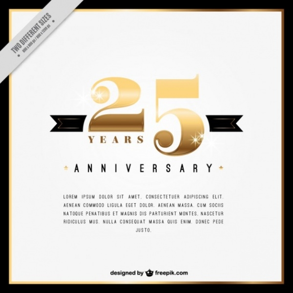 Twenty Fifth Anniversary Invitation Card