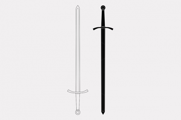 two handed sword vector