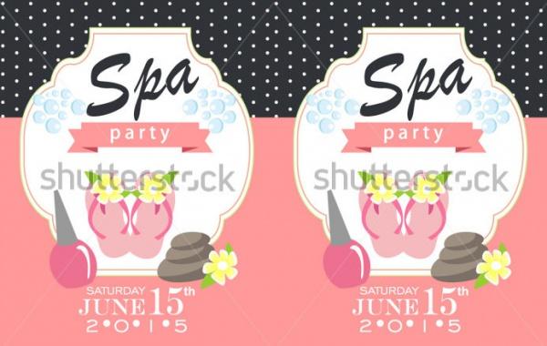 unique spa party invitation