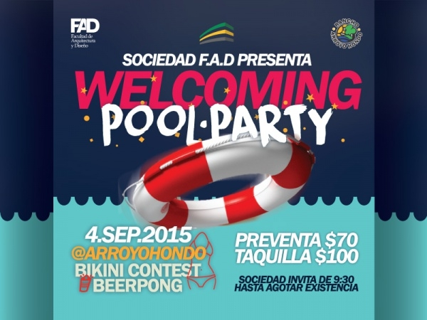University Pool Party Flyer Template