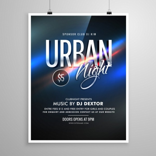 Urban Party Disco Club Flyer