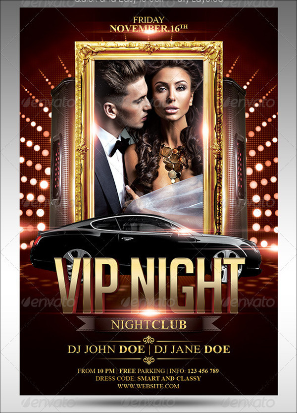 VIP Club Flyer Design