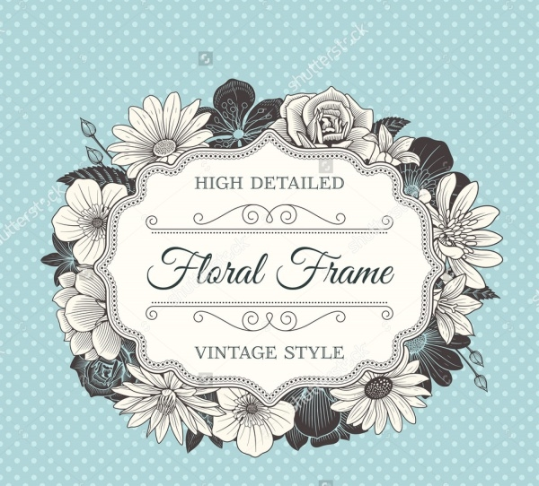 Vcetor Wedding Label With a Framw