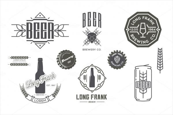 Vector Beer Labels & Design Elements