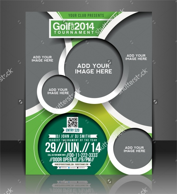 Vector Blank Golf Tournament Brochure Template