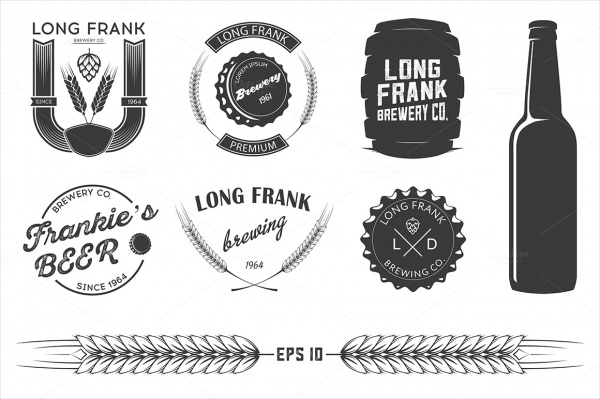 Vector Brewery Beer Labels