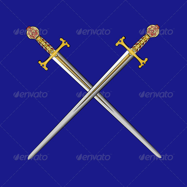 vector crossed swords