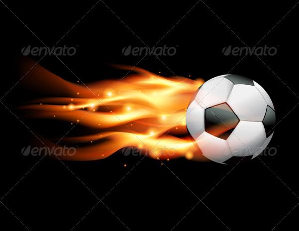 Vector Flaming Soccer Ball