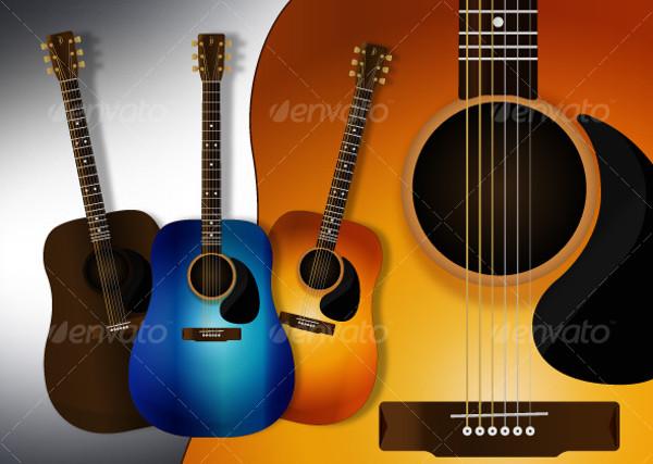 Vector Illustration of Guitar