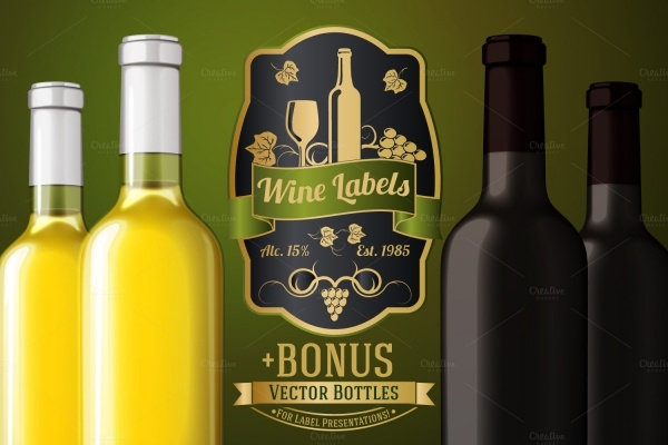 Vector Illustration of Wine Bottle
