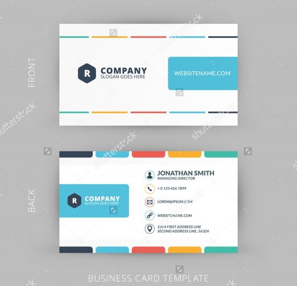 Vector Modern Flat Corporate Business Card
