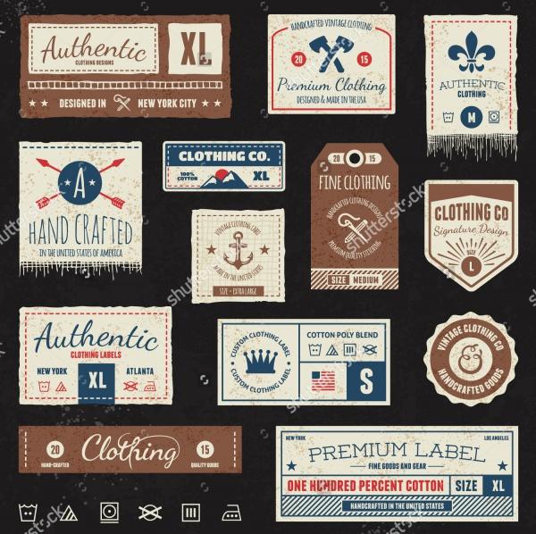 Vector Retro Clothing Tag Design