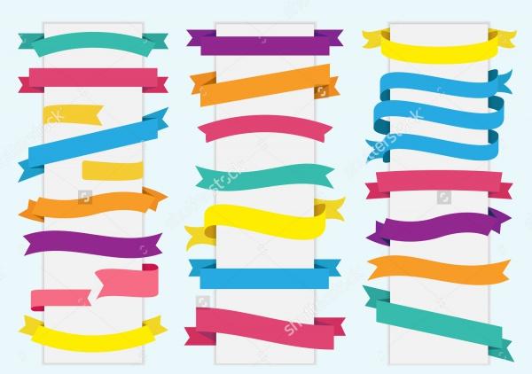 Vector Ribbon Tag Set