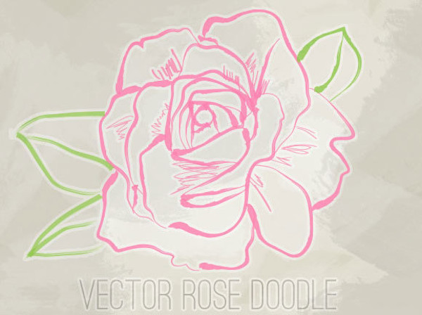 Vector Rose Doodle download