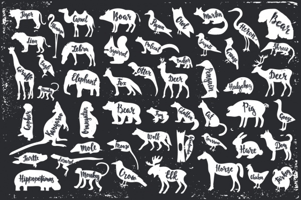 Vector Silhouettes Animals