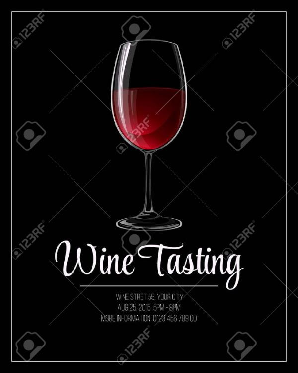 Vector Wine Tasting Flyer Template