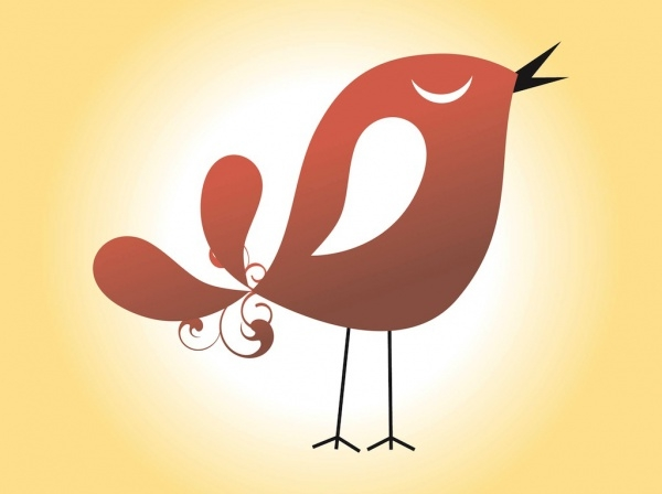 Vector graphics of a singing bird Illustration