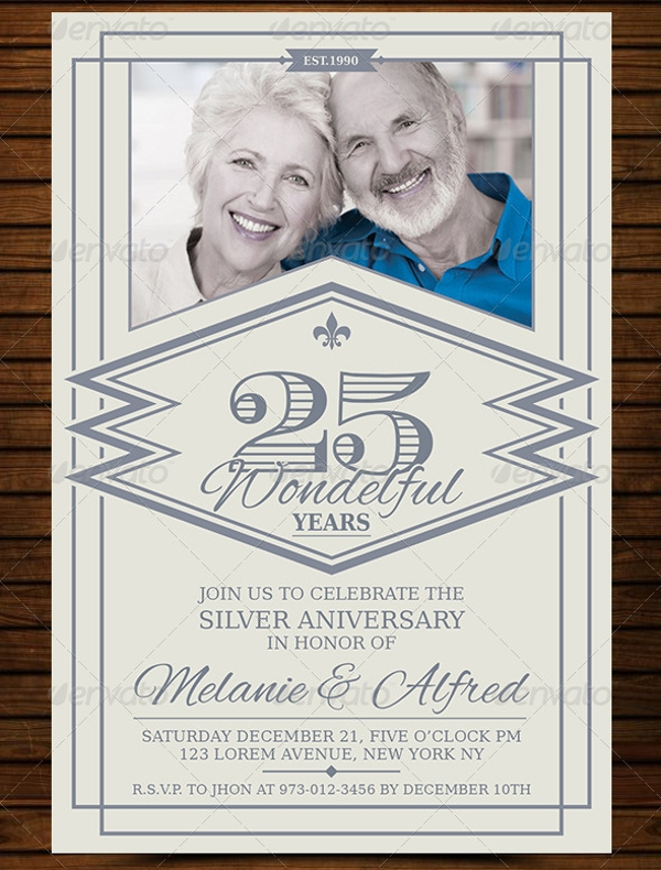 Vintage Anniversary Invitation Card