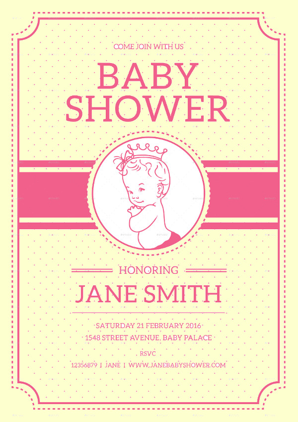 21 baby shower flyer templates psd ai illustrator download vintage baby shower flyer pronofoot35fo Gallery