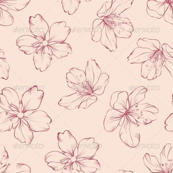 Vintage Cherry Blossom Pattern