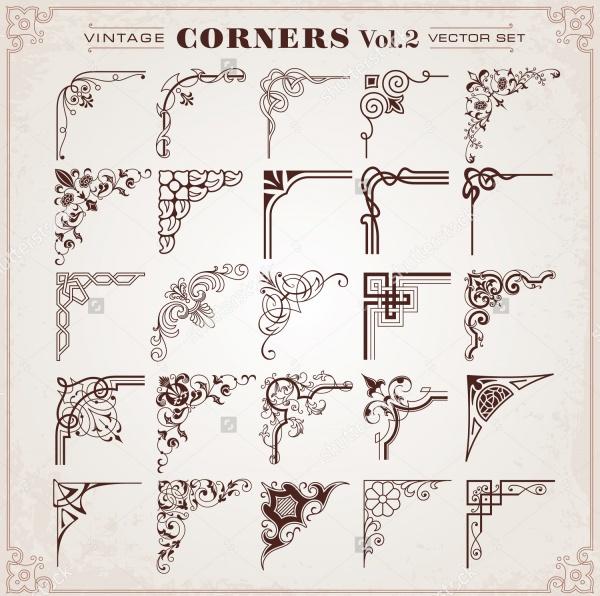 Vintage Corner Vector Design