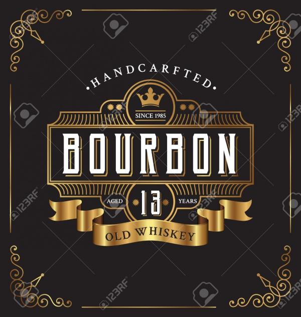 Vintage Frame Restaurant Beer Label Design