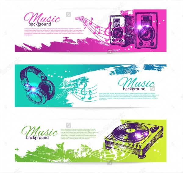 Vintage Music Banner Template