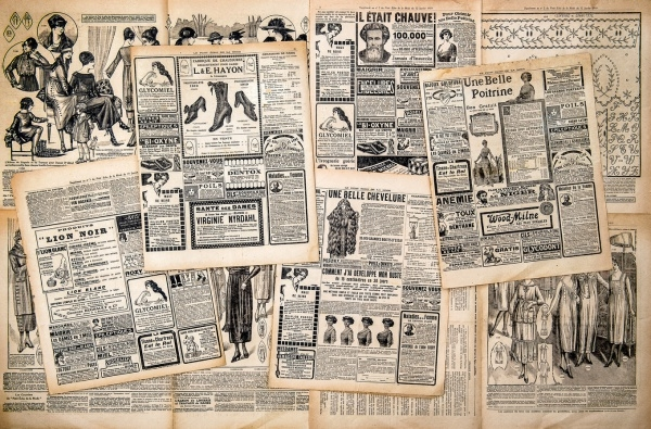 Vintage Newspaper Advertising