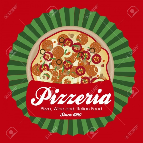 Vintage Pizza Vector Design