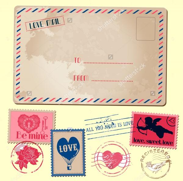 Vintage Postcard Valentine Design