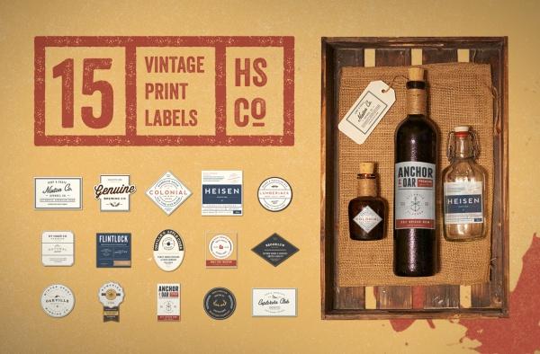 Vintage Print Beer Label Kit