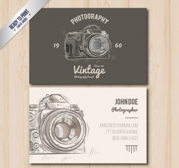 Vintage Style Photographer Business Card