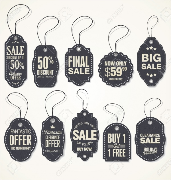 Vintage Style Product Sale Tags