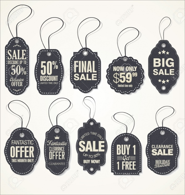 Vintage Style Sale Hang Tags Design