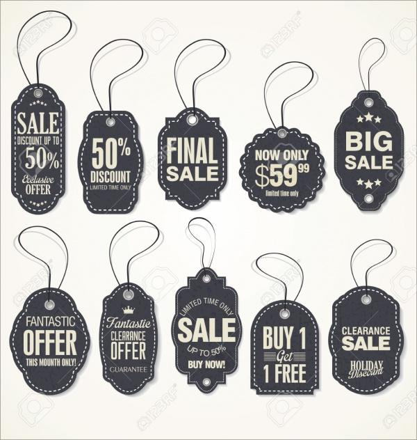 Vintage Style Sale Hang Tags Design