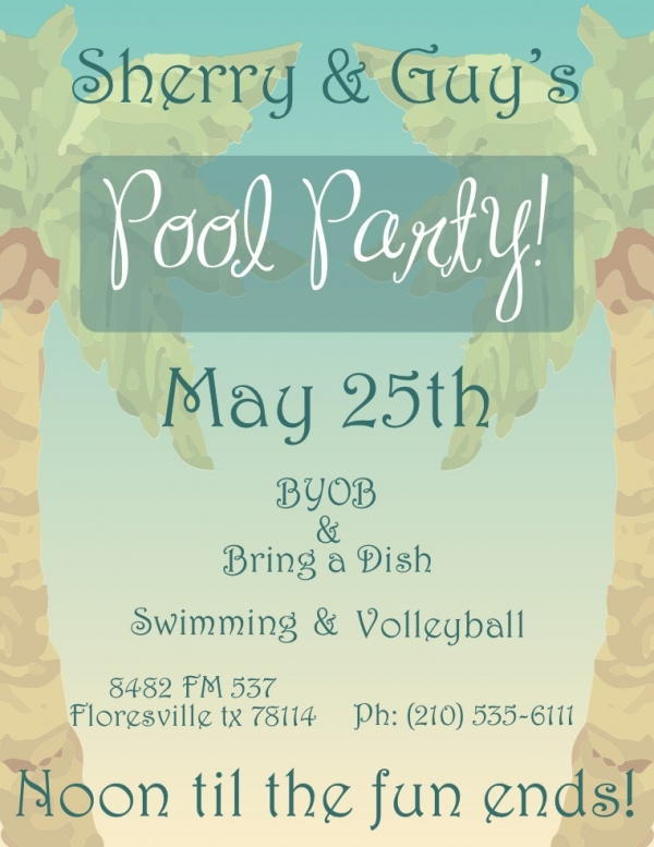 vintage swimming party design