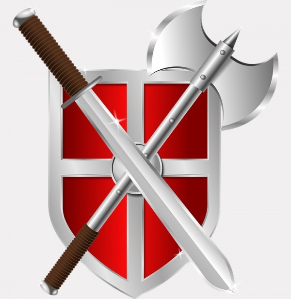 warrior roman swords vector