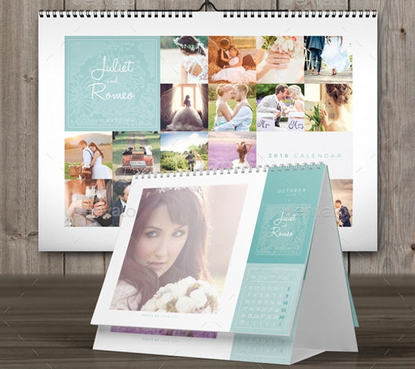 Wedding A3 Desk 2016 Calendar