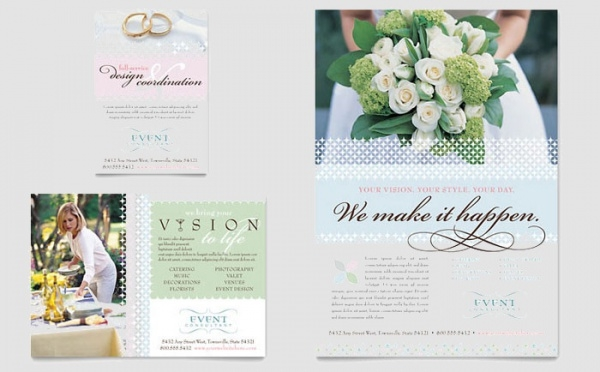 Wedding Florist Ceremony Flyer