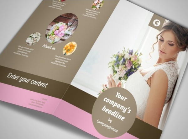Wedding Florists Brochure Design