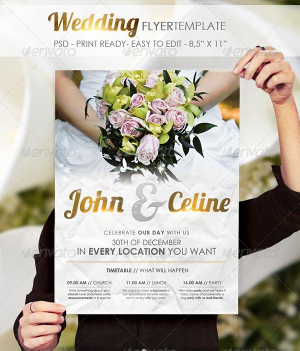24 wedding flyer templates psd vector eps jpg download freecreatives. Black Bedroom Furniture Sets. Home Design Ideas
