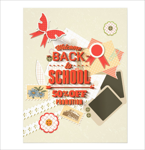 Welcome Back To School Promotion Flyer